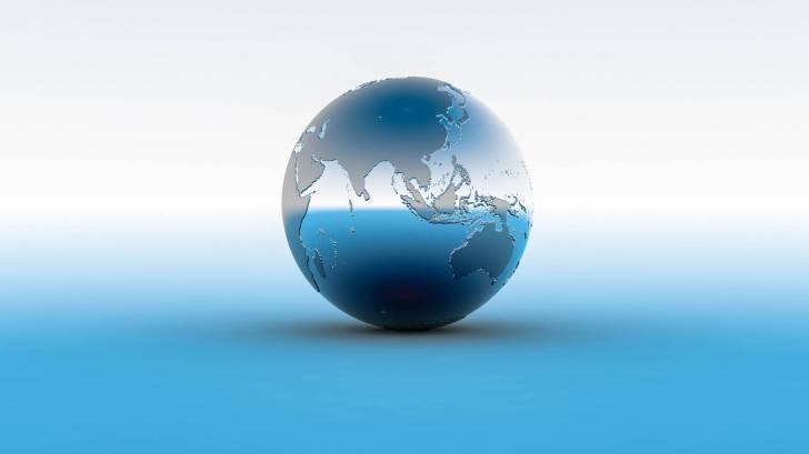 world globe showing philippines