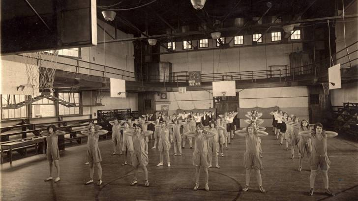 gym class circa 1940s