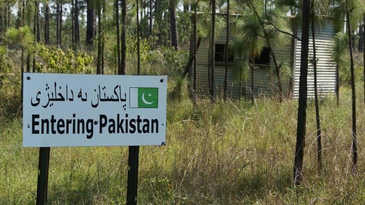 pakistan border sign