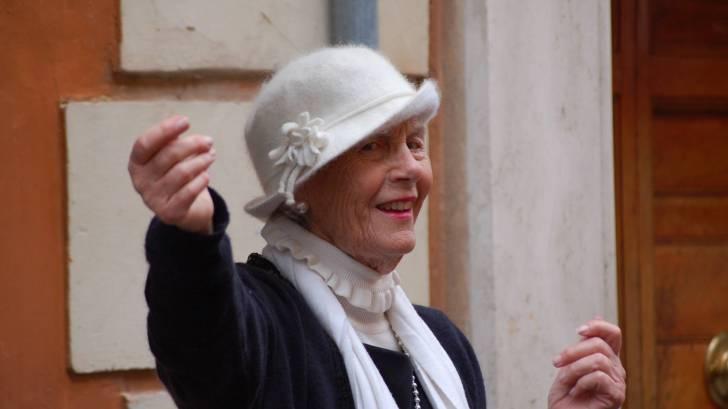 senior citizen happy and smiling