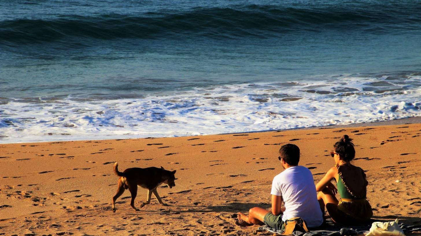 couple on a sri lankan beach