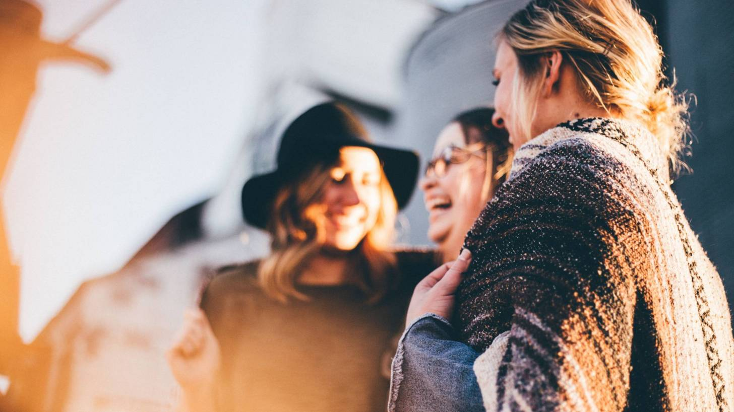 group of women celebrating