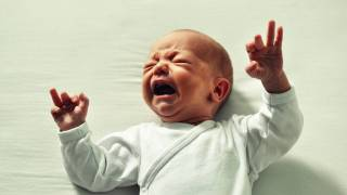 new born crying
