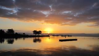 israeli sea sun setting