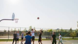 neighborhood basketball game